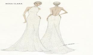 El boceto de su segundo vestido de novia.