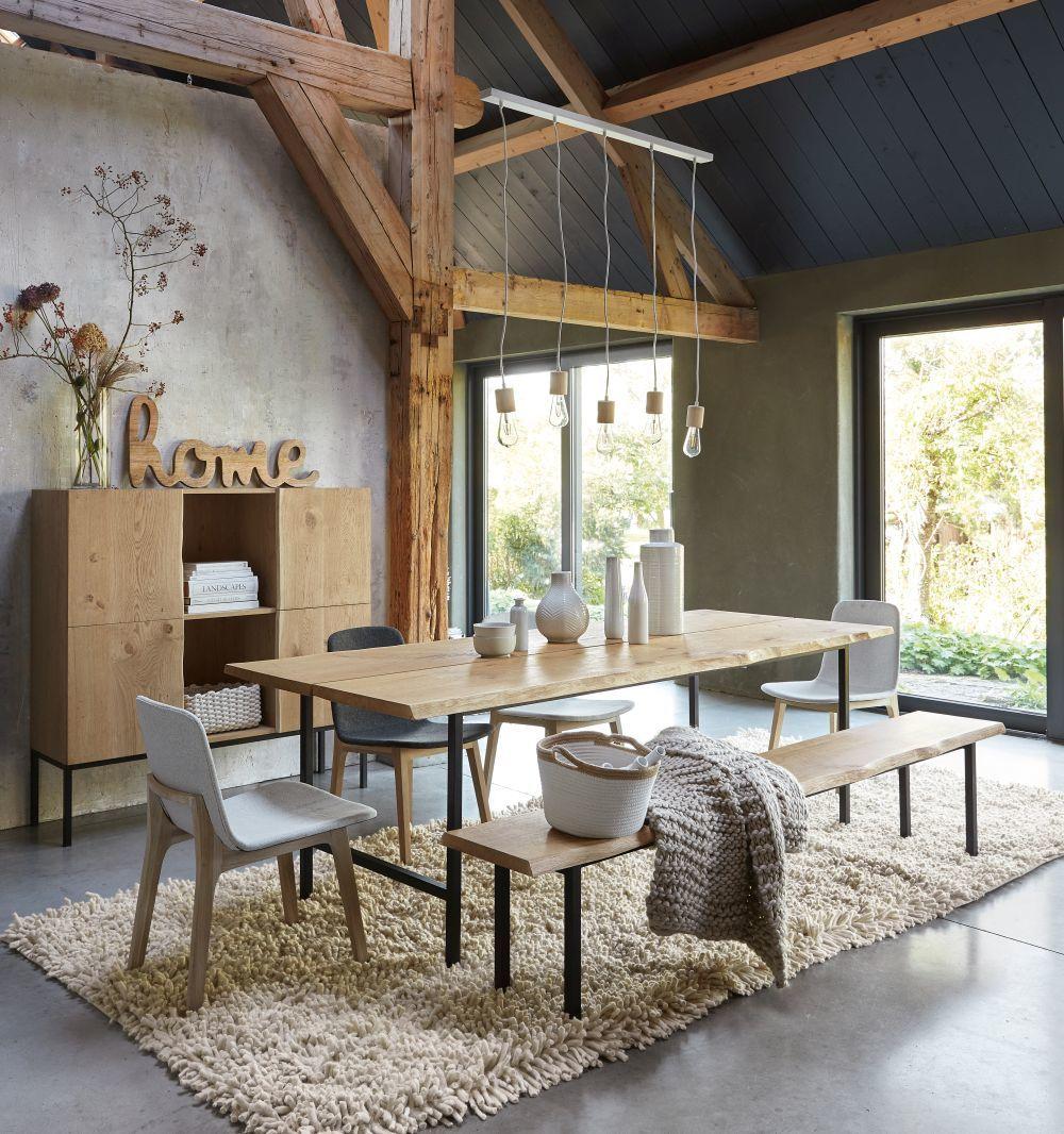 La madera no puede faltar en un salo nórdico. El nogal, el abedul o el roble son buenas elecciones.