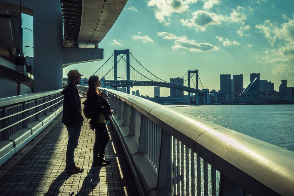Rubén, Lucía y Koke en Tokio (Japón).