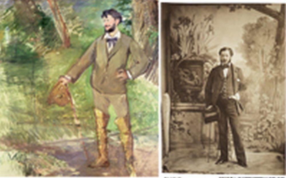 Retrato de Emile-Auguste Carolus-Duran (1876), de Manet; y Retrato de un dandy, de Aguado (1854).