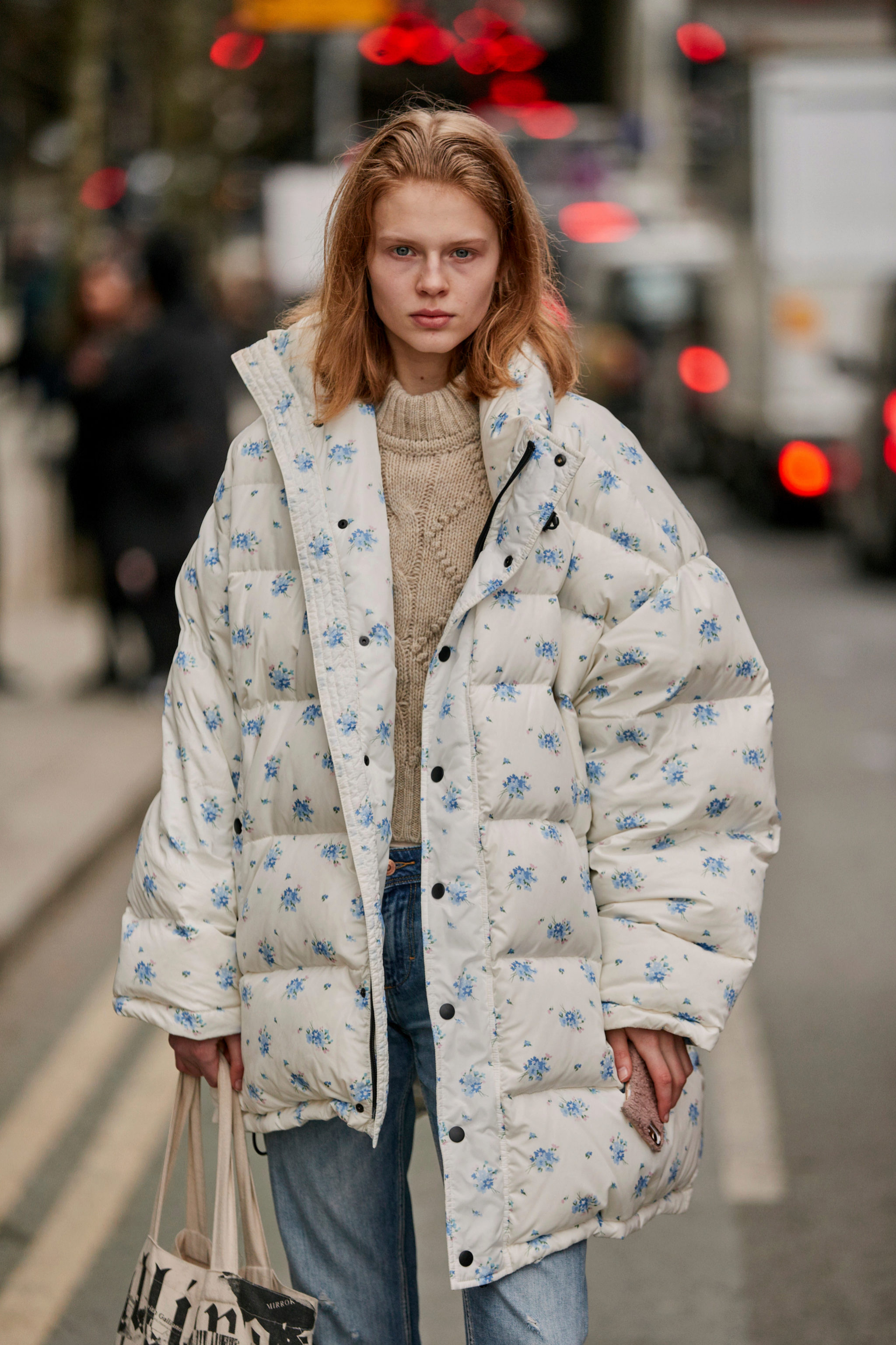 Otro de los abrigos acolchados que hemos visto en la Fashion Week
