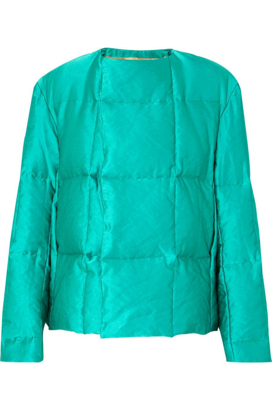 Cazadora acolchada en verde turquesa de Dries Van Noten para Net a...