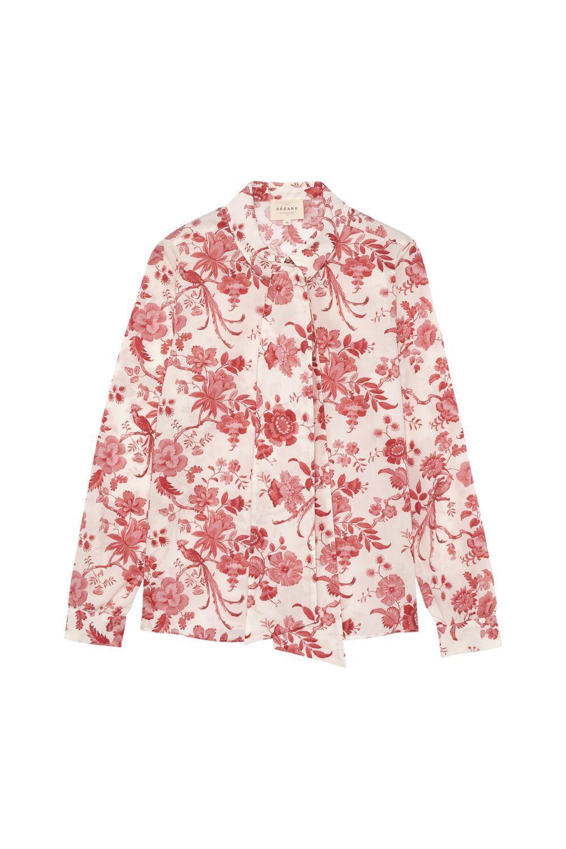 Camisa de flores Liberty (90 ¤) Sézane.