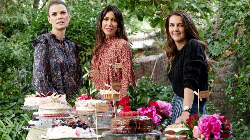 Alejandra de Rojas junto a Patricia y Beatriz, de Patissebie.