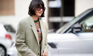 María Bernad con un jersey de lana por las calles de Nueva York