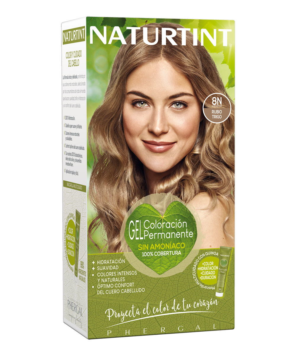 Gel Coloración Permanente Naturtint de Phergal Laboratorios  (5,95 euros), con aceites 100% biobotánicos, que respetan la salud del cabello y el cuero cabelludo, ofreciendo 26 tonos intensos.