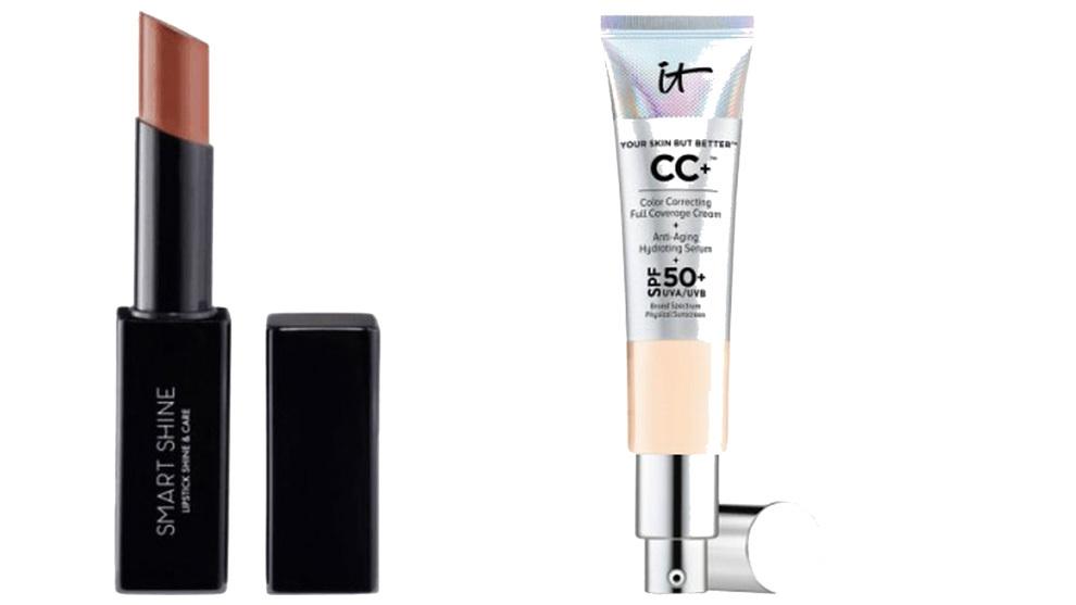La CC Cream es la base perfecta para este look junto al labial Douglas Smart Shine 03 Nude Attraction.