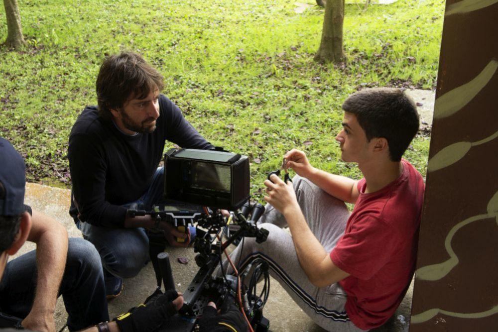Daniel Sánchez Arévalo y Biel Montoro durante el rodaje