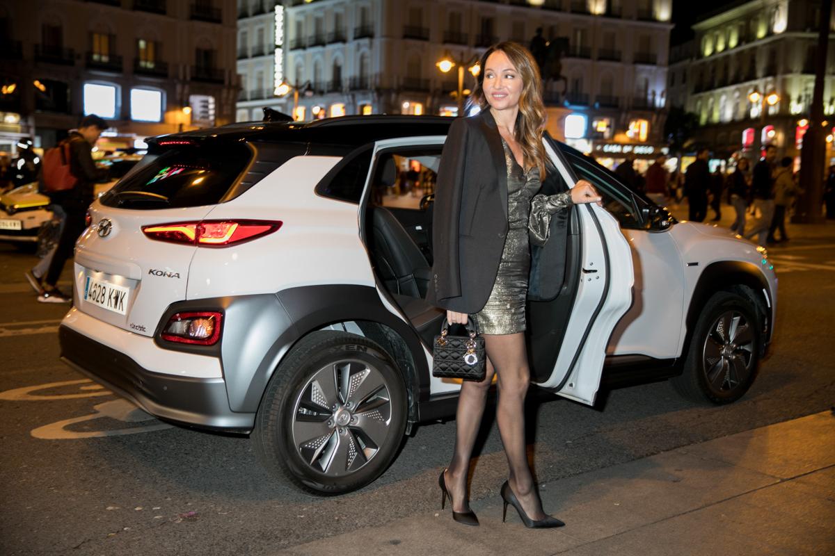 Ana Antic en su llegada a los Premios TELVA en el Hyundai Kona...