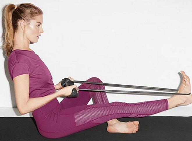 El remo es una manera muy habitual de trabajar la parte dorsal.
