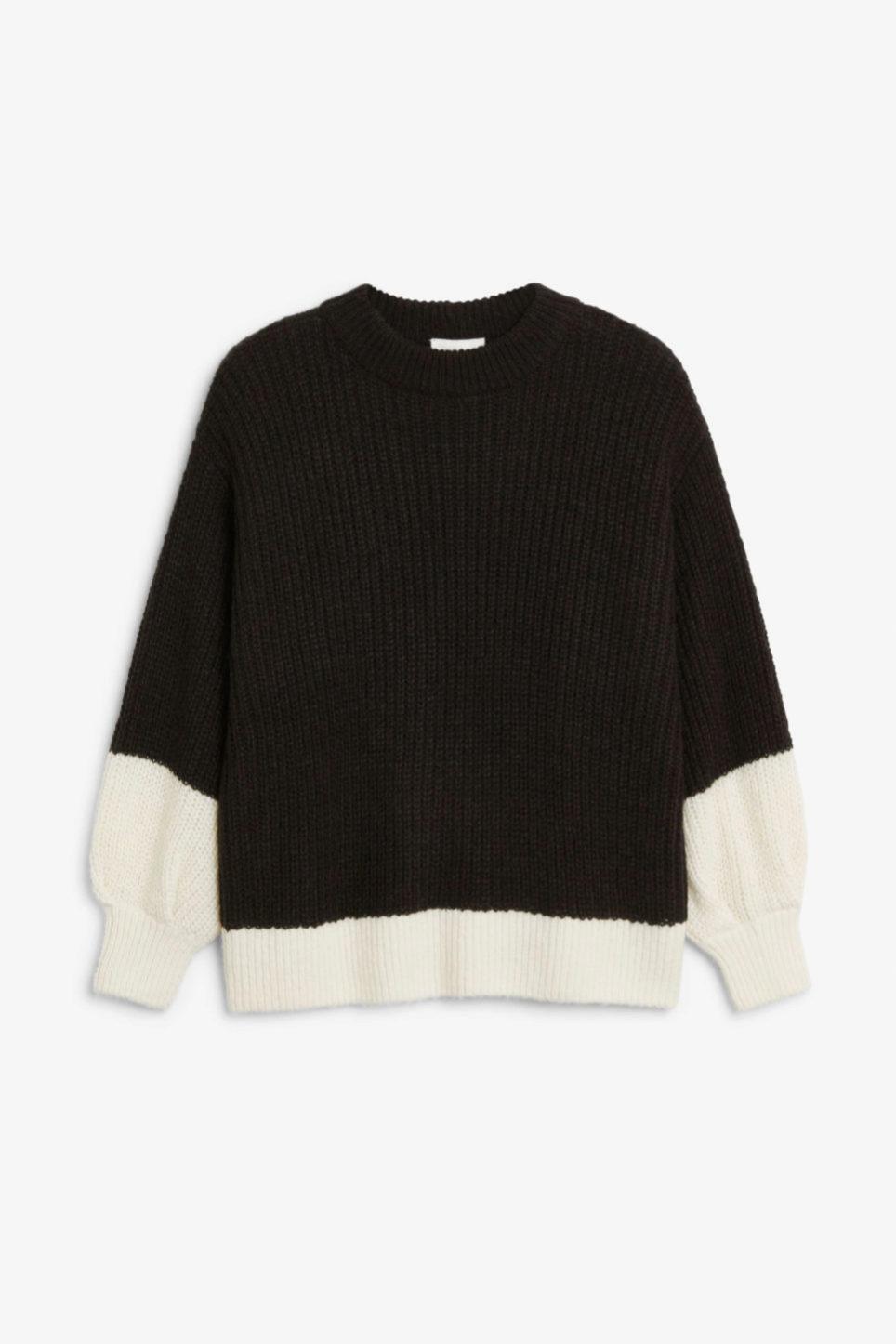 Jersey de lana en blanco y negro de Monki
