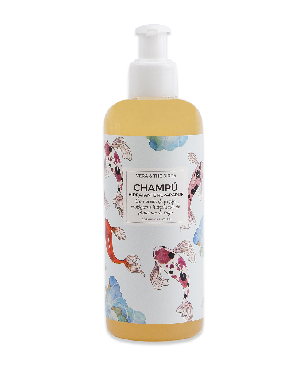 Champú Hidratante Reparador de Vera and The Birds (12,50 euros), con...