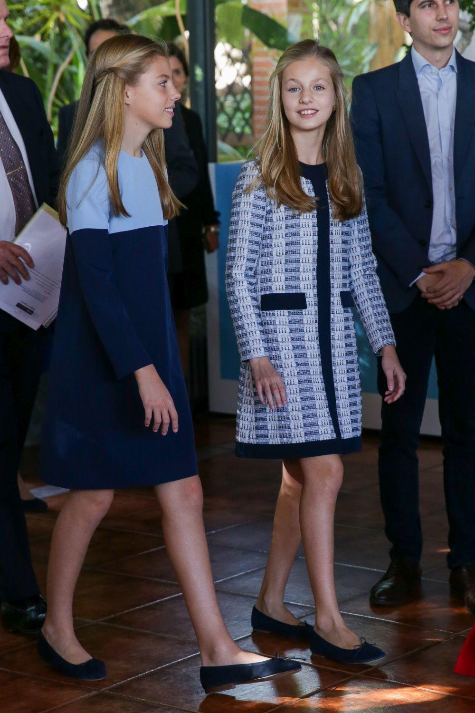 La infanta Leonor y la princesa Sofía.