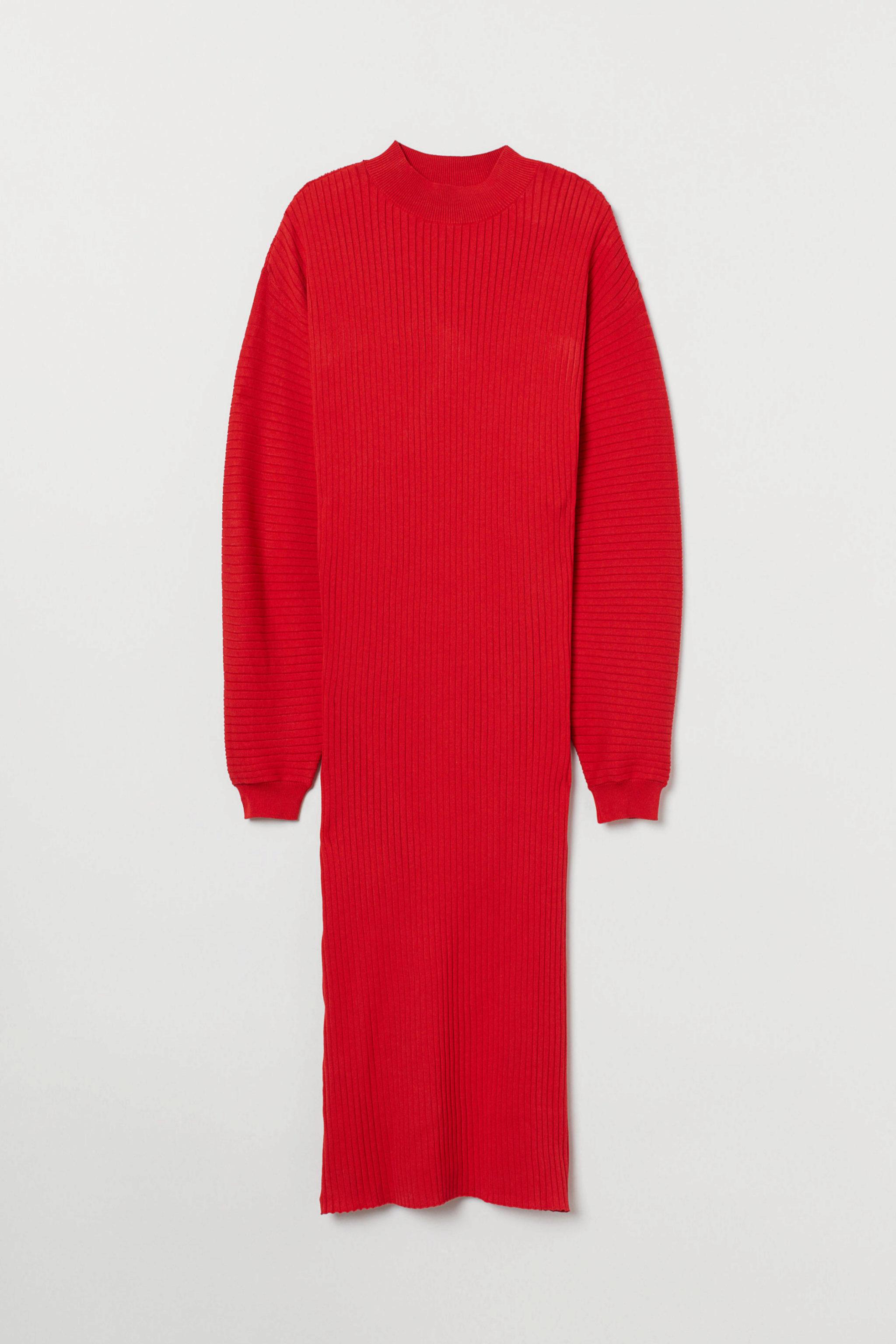Vestido de punto de canalé de H&M