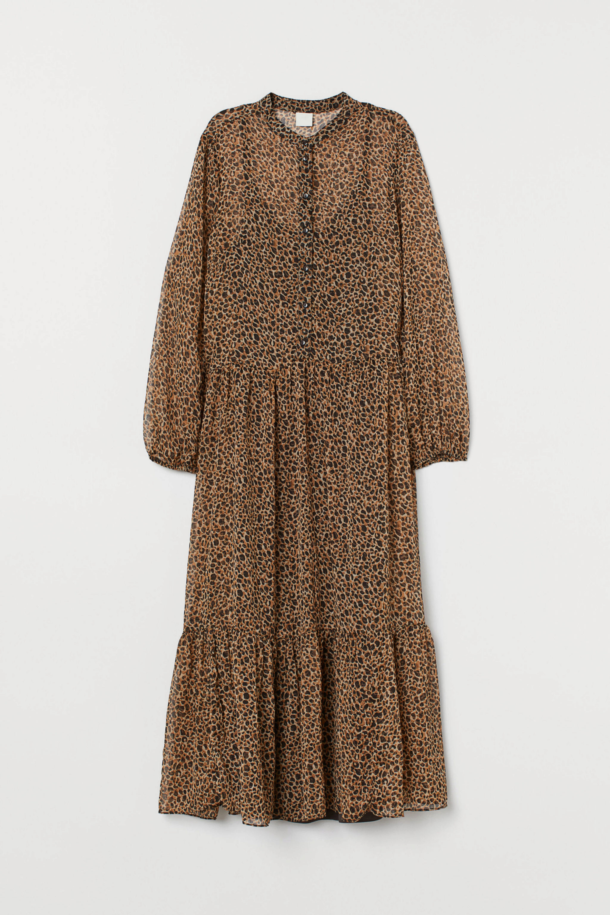 Vestido de gasa de 'animal print' de H&M