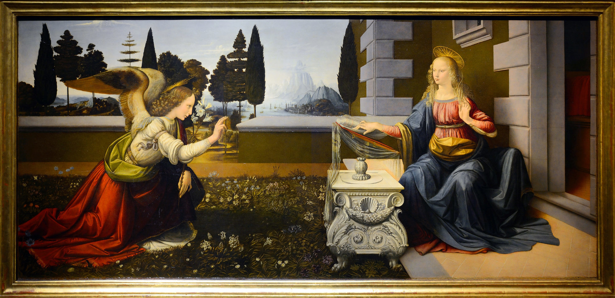 La Anunciación, de Leonardo Da Vinci, será una de las 162 obras expuestas en la exposición del Museo del Louvre.
