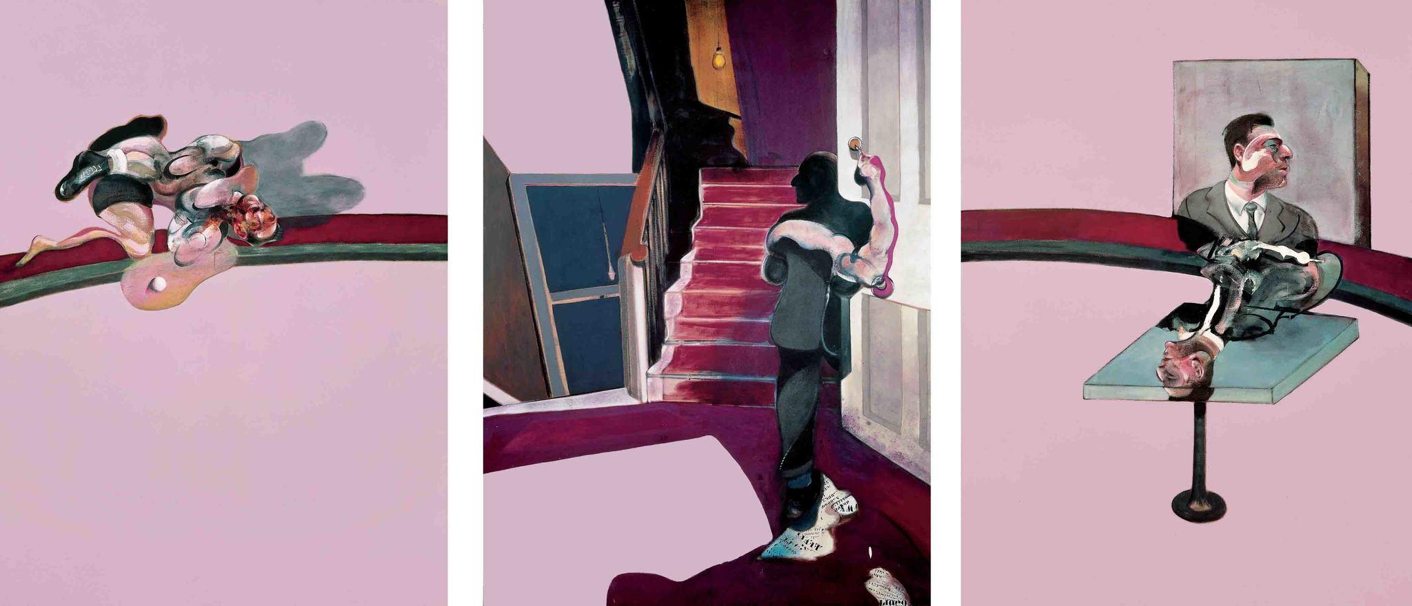 En memoria de George Dyer, de Francis Bacon, una de las obras expuestas en el Centro Pompidou.