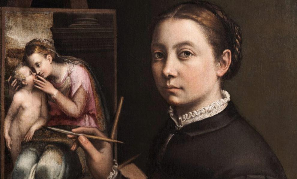 Autorretrato ante el caballete, Sofonisba Anguissola (1556) Museo del...