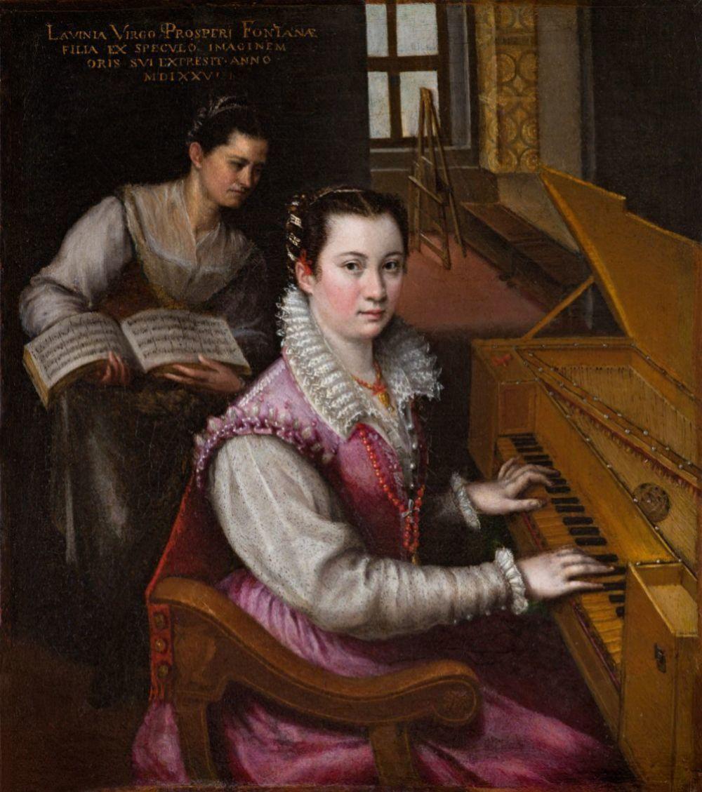 Autorretrato tocando la espineta, de Lavinia Fontana, 1577