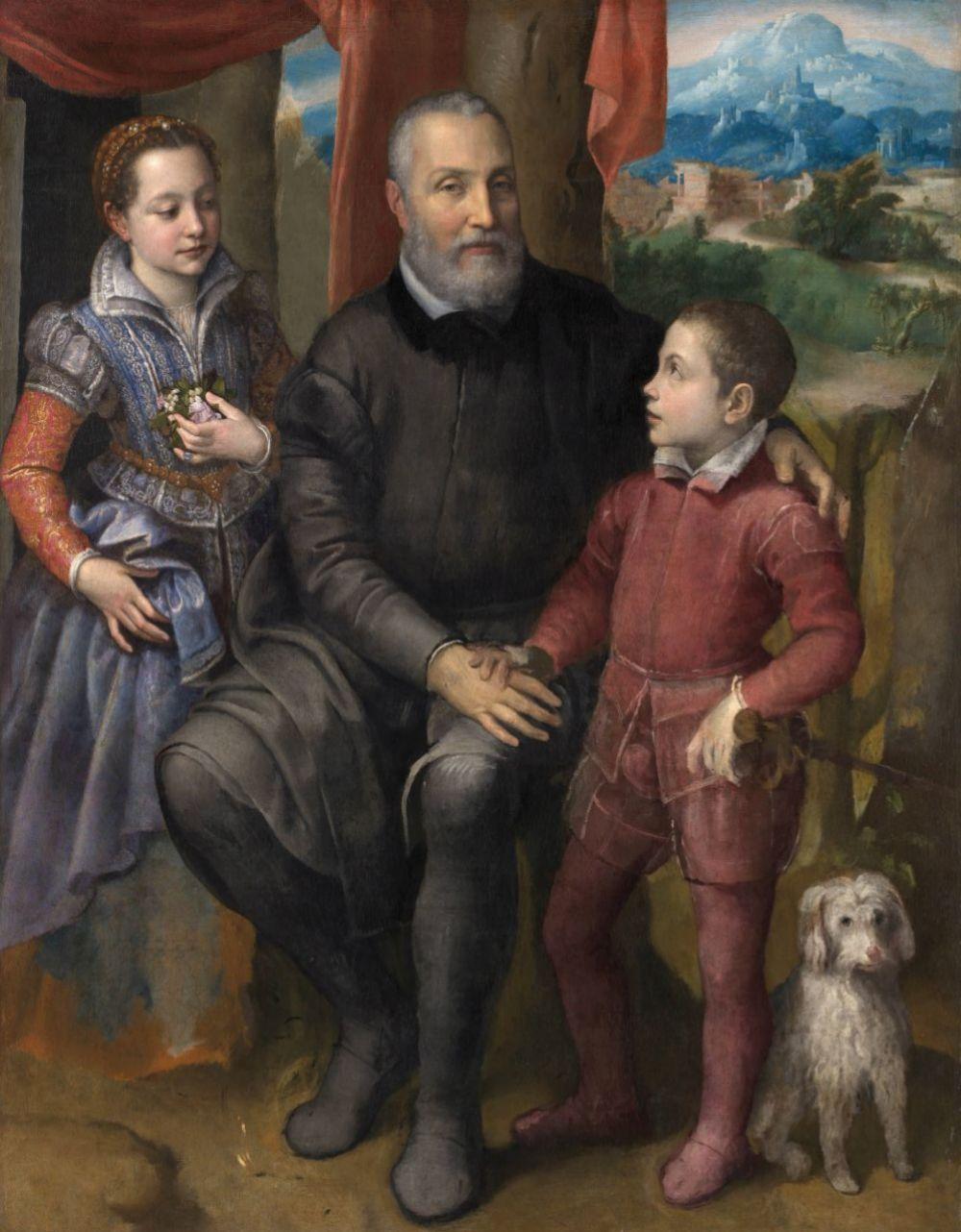 Retrato de familia, de Sofonisba Anguissola, 1558