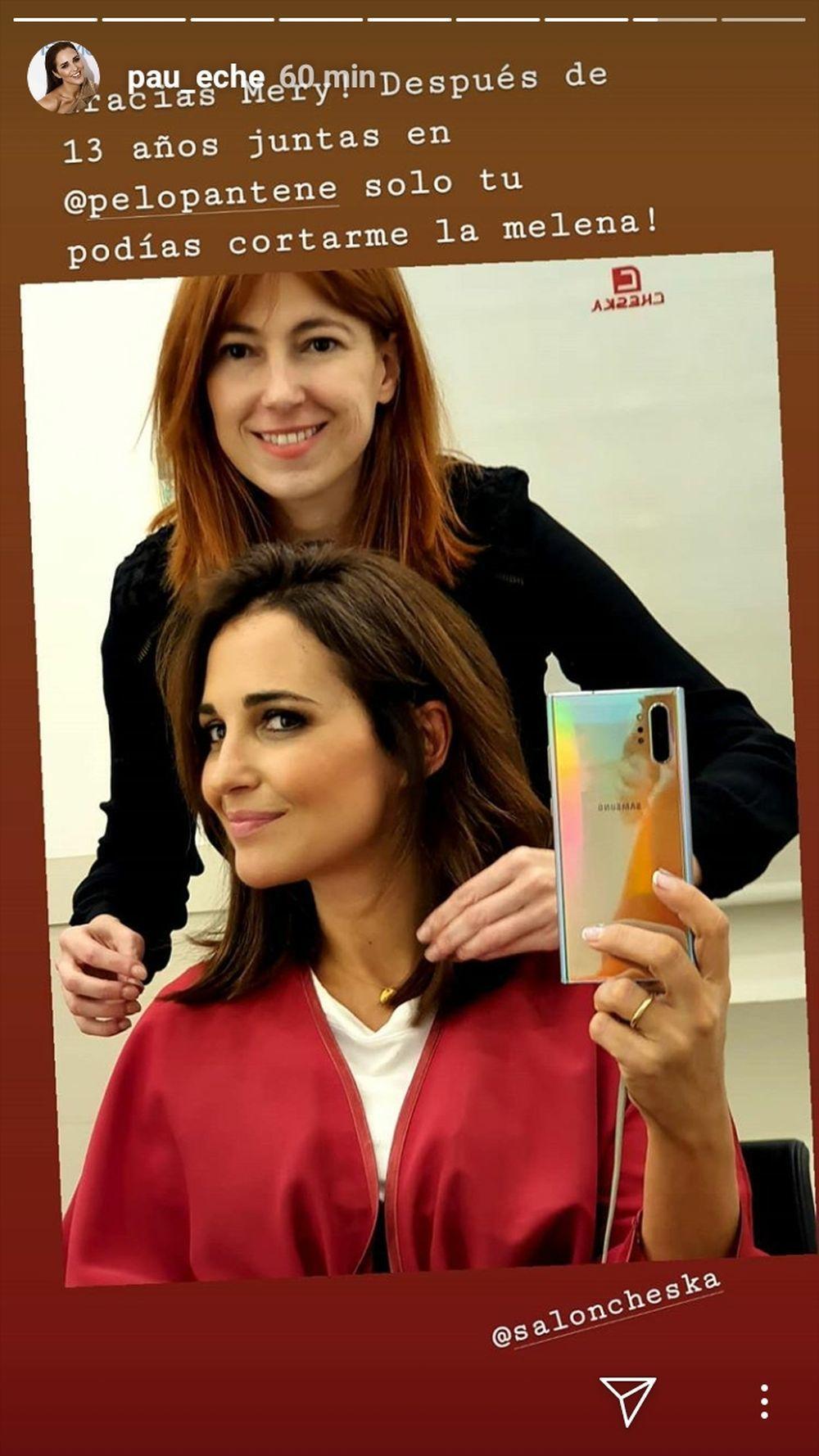 La actriz Paula Echevarría con María Baras, de Cheska, artífice de...