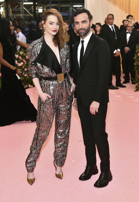 Emma Stone y  Nicolas Ghesquière