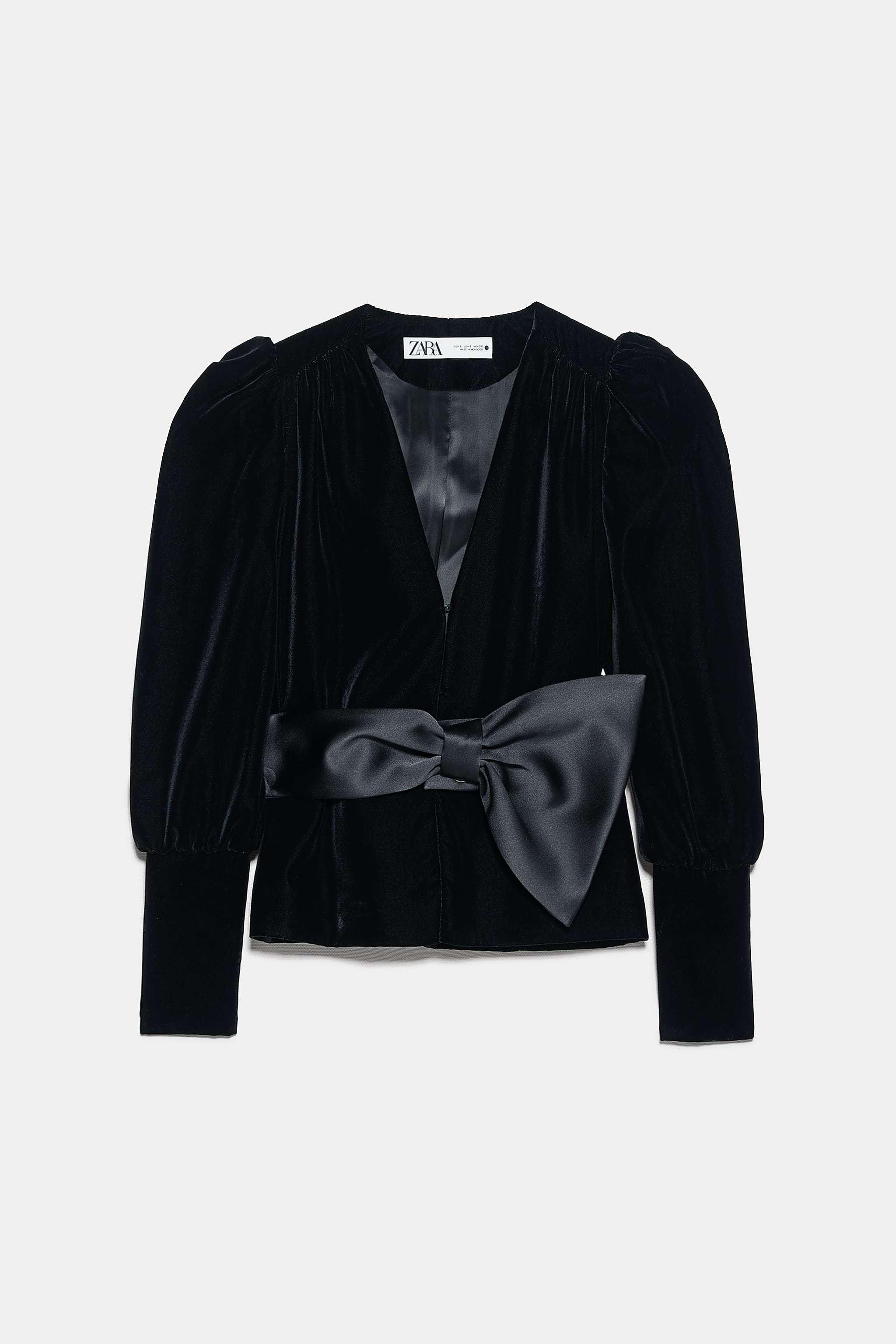 Blazer de terciopelo de Zara (59,90 euros).