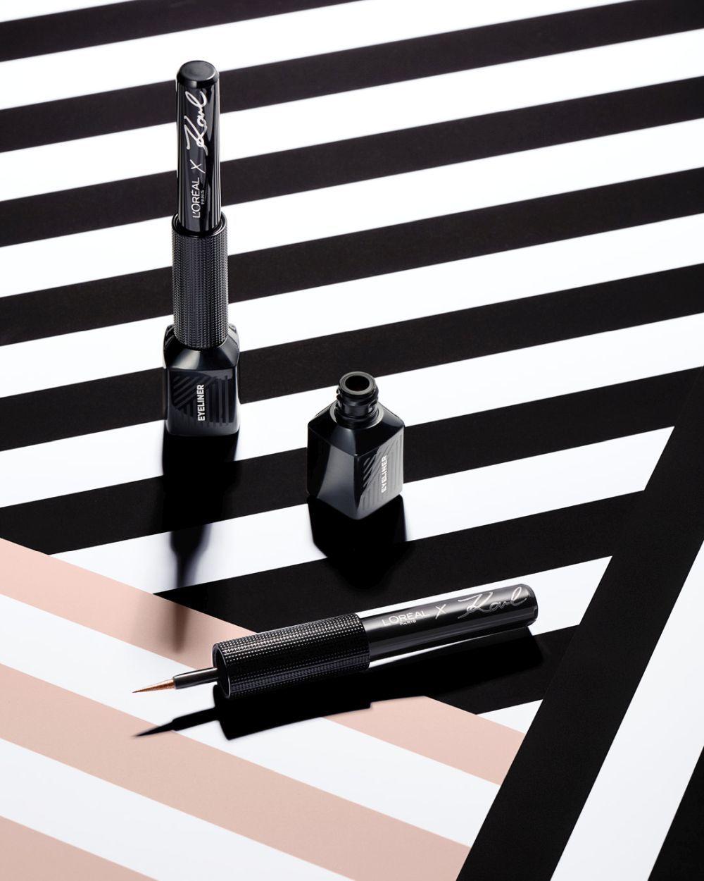 Los eyeliner de la colección de Karl Lagerfeld para L'Oréal Paris.