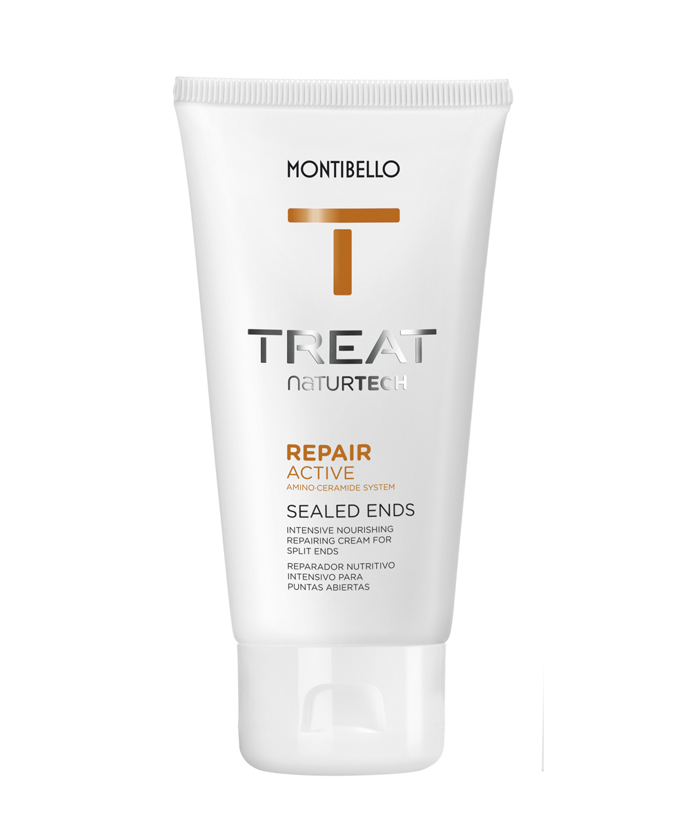 Producto de acabado para sellar las puntas Repair Active Sealed Ends Treat Naturtech, de Montibello.