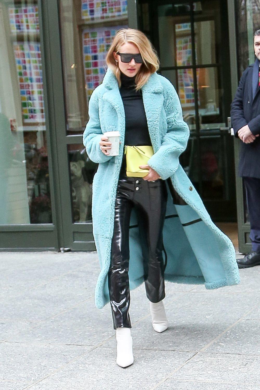 El abrigo de pelo (con color).