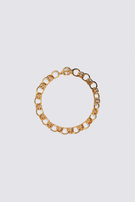 Collar de eslabones pequeños dorado de Zara
