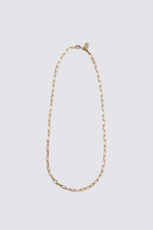 Cadena de eslabones de plata con baño de oro de Zara