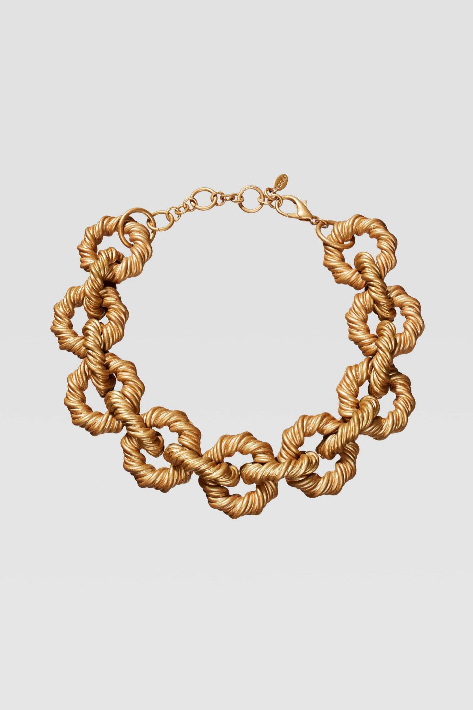 Collar de eslabones grabados de Zara