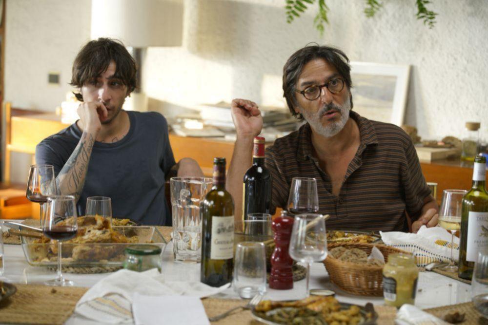 Yvan Attal y Ben Attal (marido e hijo de Charlotte Gainsbourg) en...