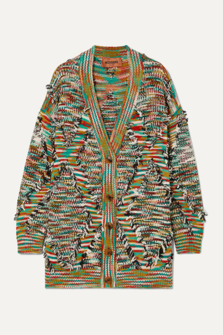 Cárdigan de colores de lana de Missoni