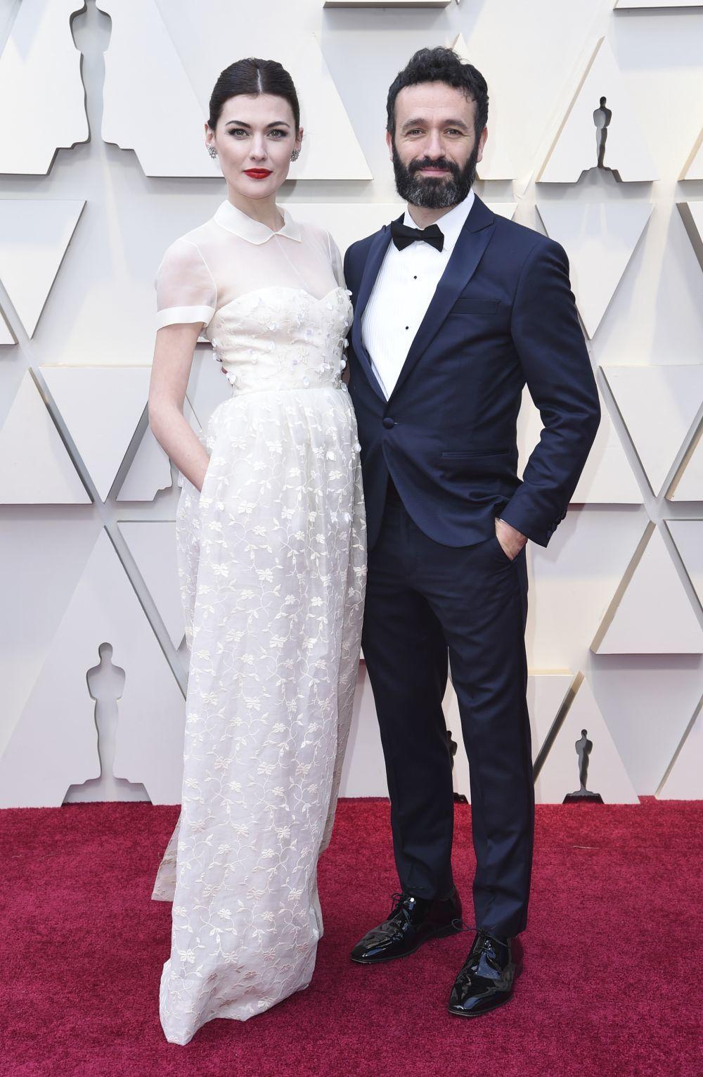 Marta Nieto con Rodrigo Sorogoyen en los Oscar.
