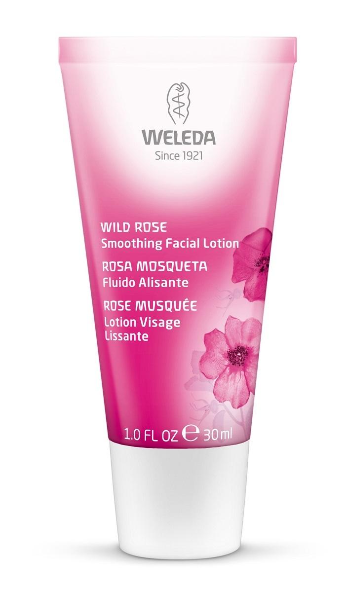 Fluido Alisante de la línea Rosa Mosqueta de Weleda, ideal para las primeras arrugas.