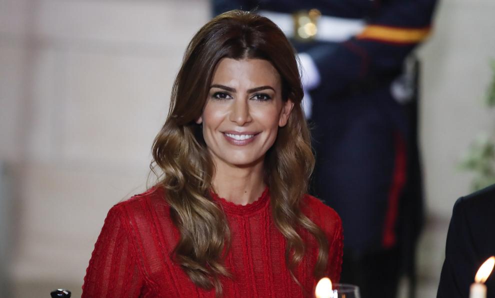 Juliana Awada durante un acto oficial como primera dama argentina.