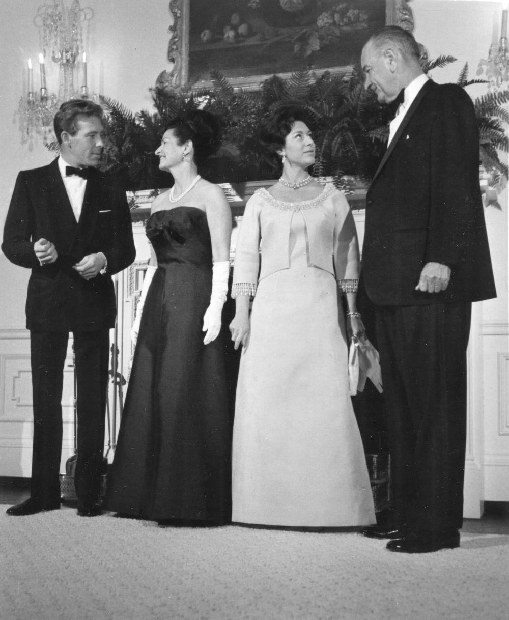 La princesa Margarita y el presidente Johnson en la Casablanca.