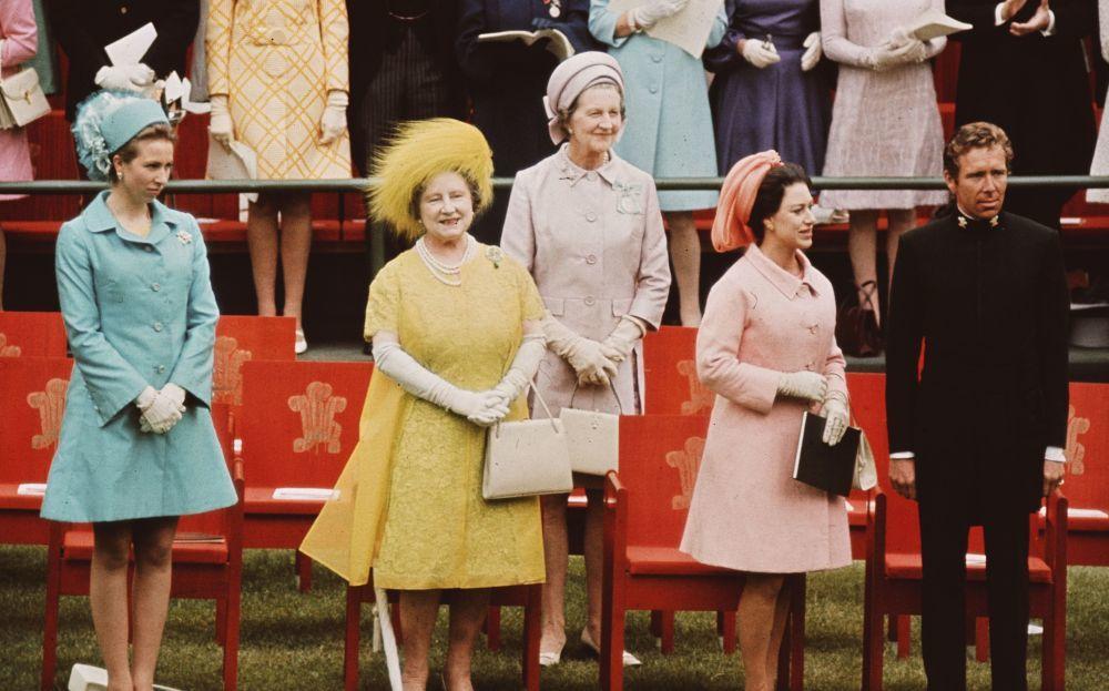 La familia Real en la coronación de Carlos como Príncipe de Gales.