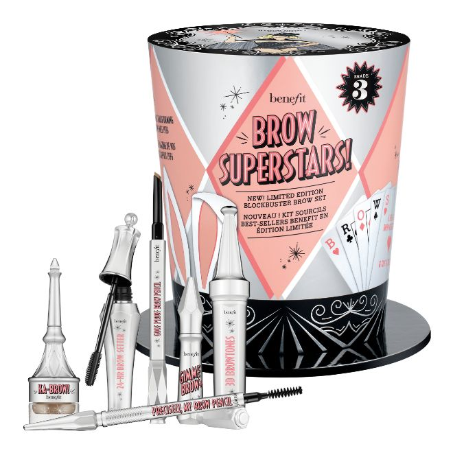 ?Brow Superstars!, de Benefit (70 euros, edición limitada). Incluye un set completo con seis productos diferentes para lograr las cejas que te propongas. ¡Date prisa!