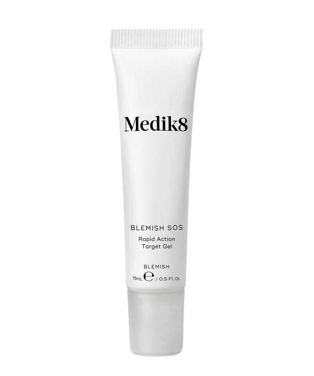 Blemish SOS de Medik8 (22 euros), gel de acción rápida para acabar con los granos gracias a su infusión de ácido salicílico.