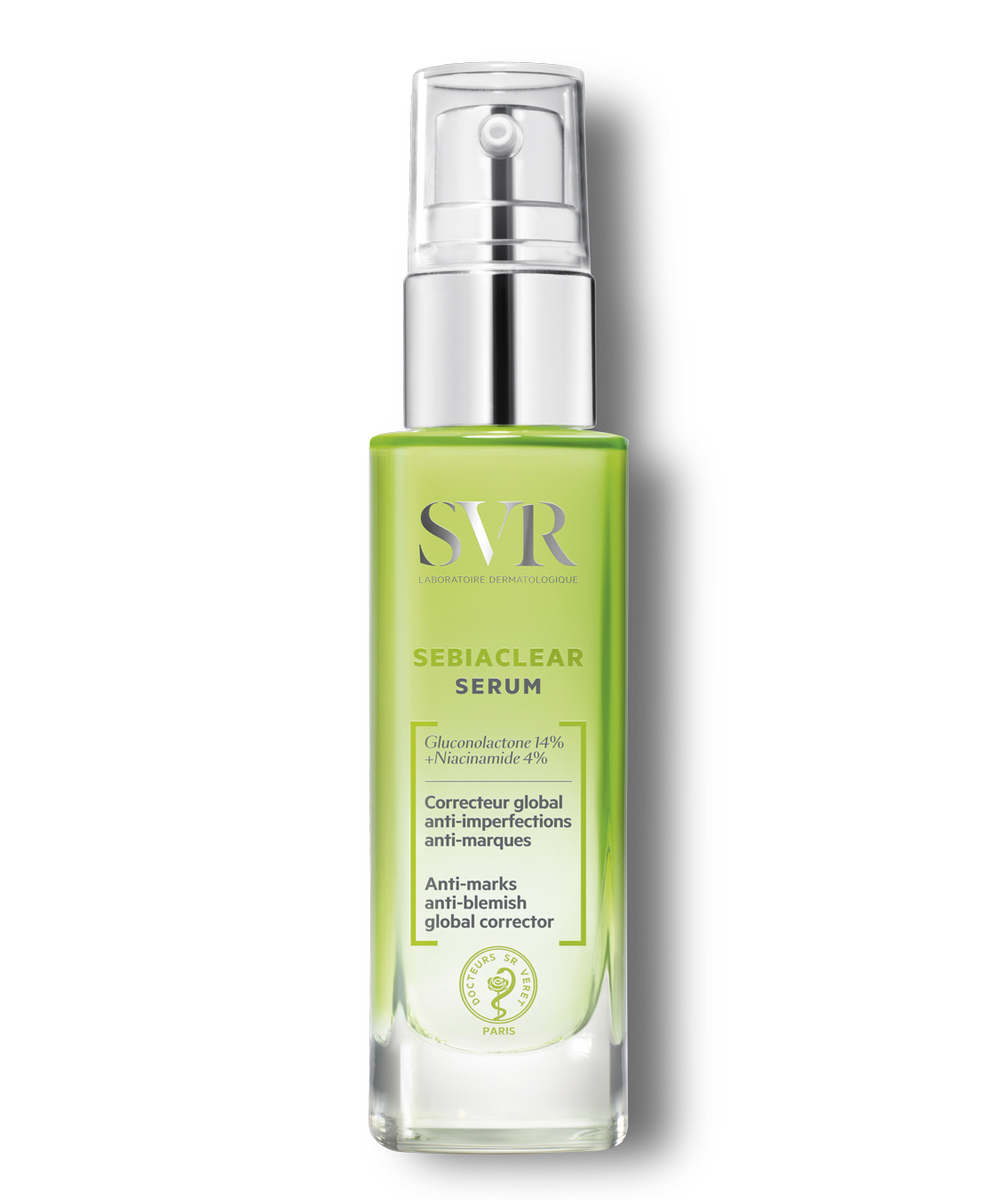 Sebiaclear Serum de SVR (20,90 euros), un tratamiento diario para adultos con acné que reduce las marcas y las imperfecciones como los granitos y arrugas.