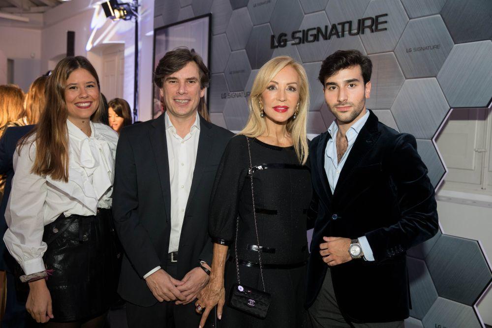 Cristina Fernández, de LG; Miguel Ángel Fernández, Director de...