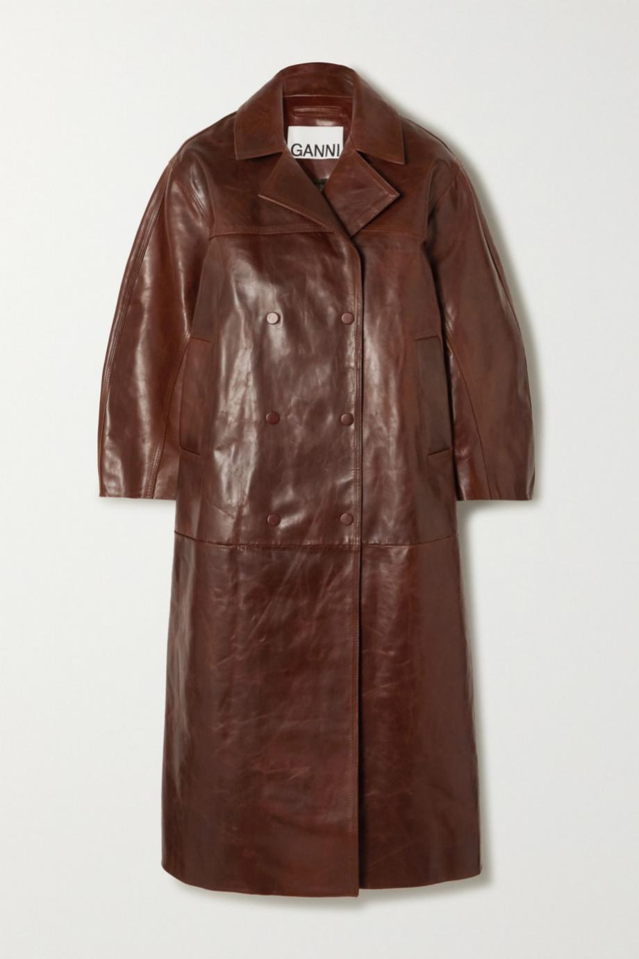 Abrigo de piel de estilo vintage de Ganni para Net a porter