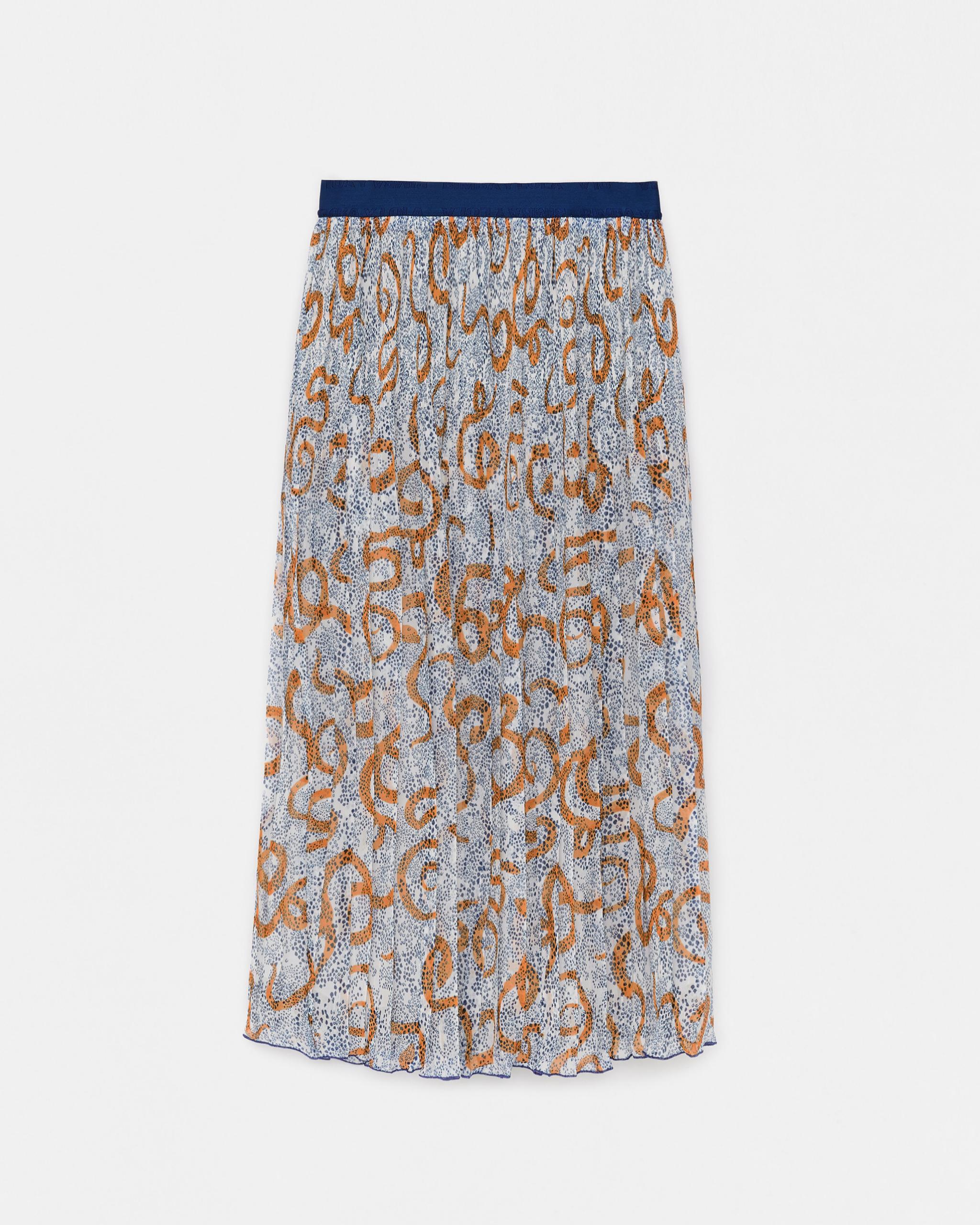 Falda plisada estampada de Bimba y Lola