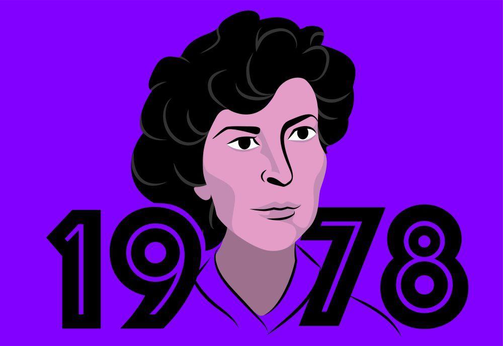 """Ilustración de Teresa Revilla, """"la madre de la Constitución""""."""
