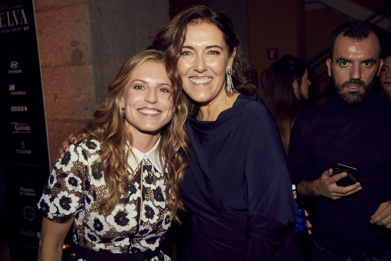 Sara Andrés con Olga Ruiz, directora de TELVA.