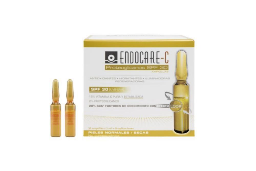 Endocare C Proteoglicanos SPF 30 49,90 euros 30 ampollas.