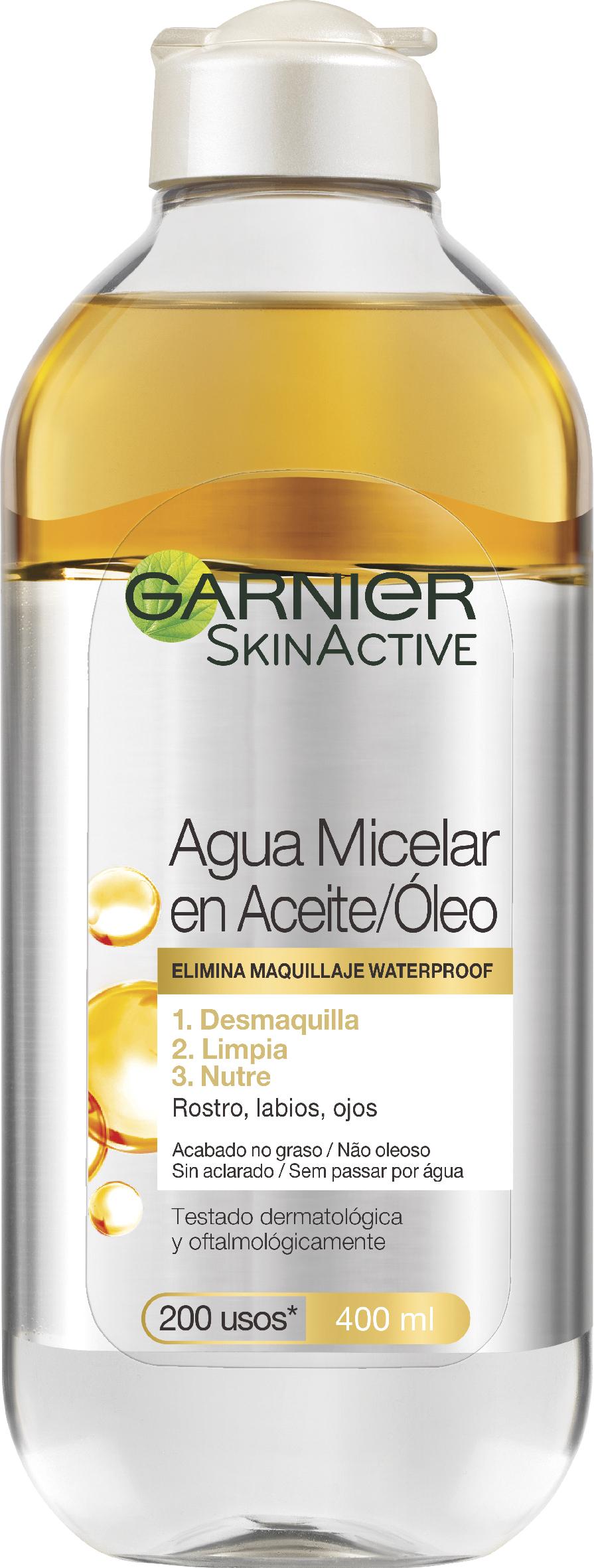 Agua Micelar en Aceite, de Garnier (4,95 euros). En su composición contiene óleo de argán.